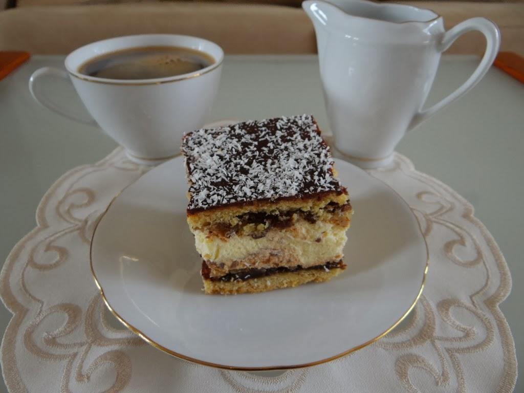 Ciasto bakaliowe z kremem