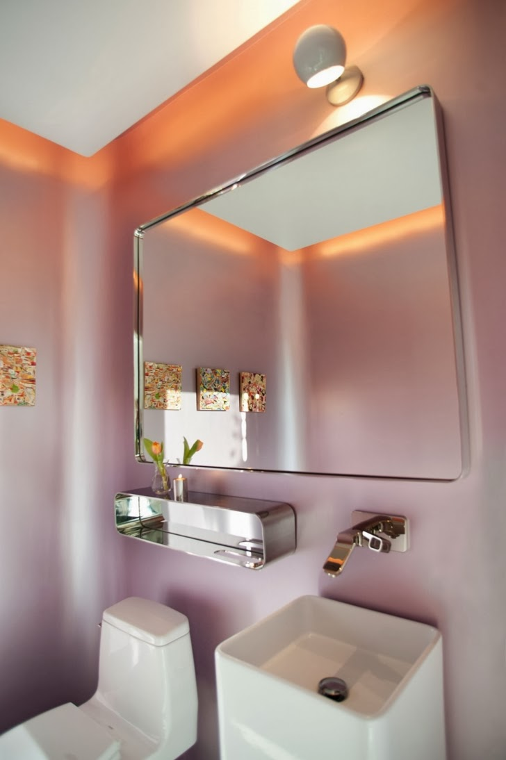 Bathroom in the Luxury modern family home in Venice, California