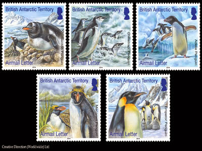 British Antarctic Territory -  Penguin Stamps 2014