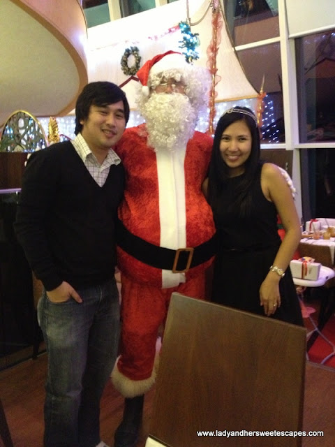 Ed and Lady with Santa