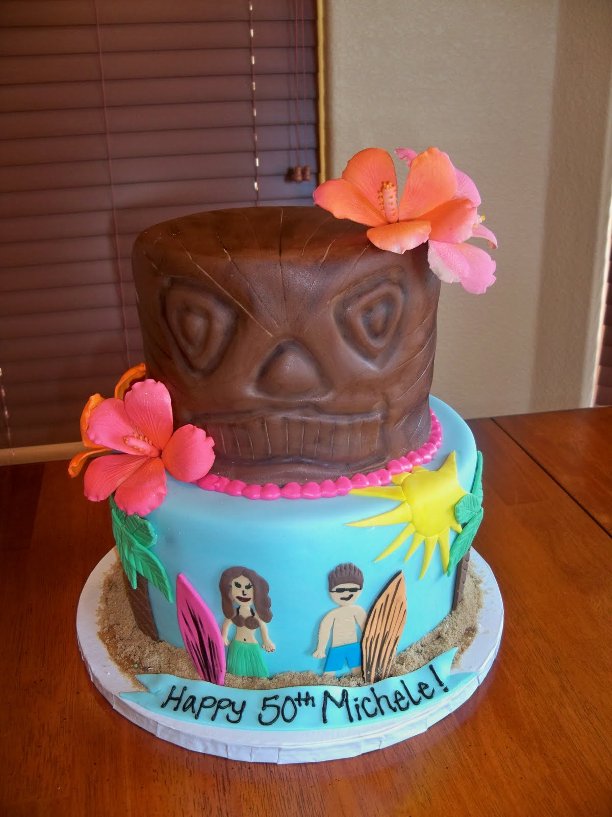 The Cake Shoppe Hawaiian Themed Birthday Cake