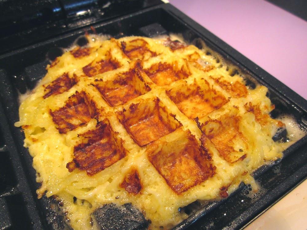 Gaufres salées sans gluten de pomme de terre