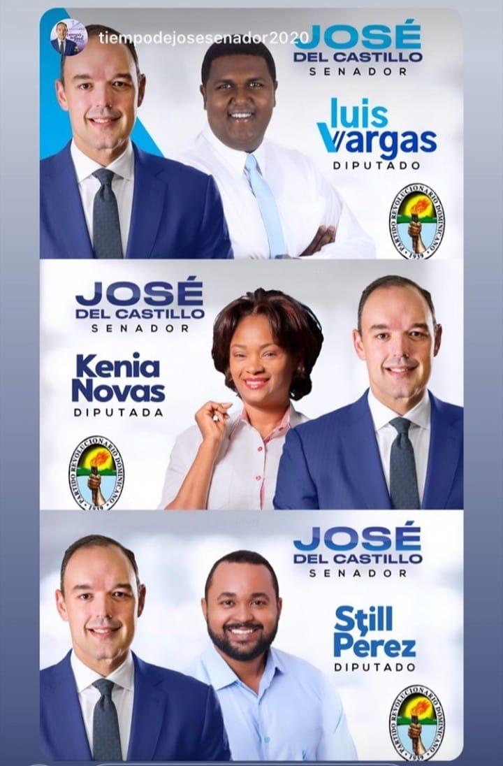 CANDIDATOS A DIPUTADOS DEL PRD en respaldo al candidato a senador José del Castillo