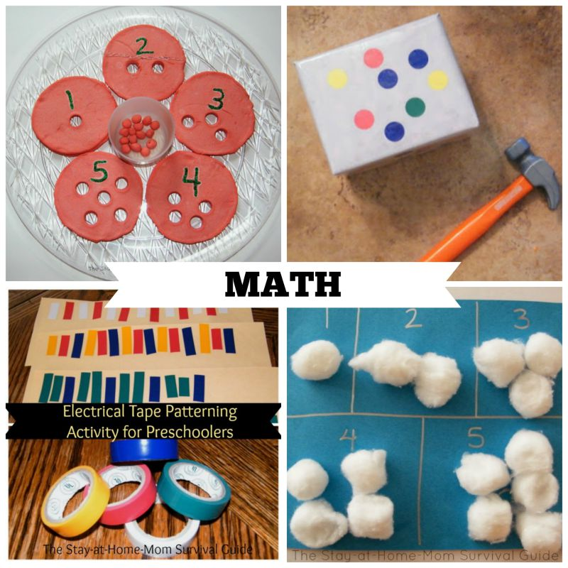 40 activities for preschool at home the stay at home for Educational crafts for preschoolers