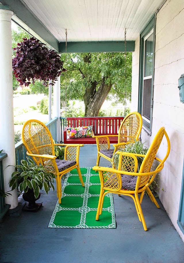 Front Porch Makeover for Under $100 Aunt Peaches