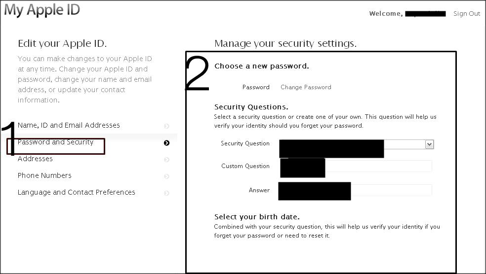 how to get security questions for apple id