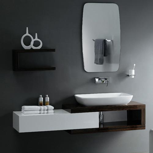20 Sleek Ideas For Modern Black And White Bathrooms: Beberapa Ide Menempatkan Handuk Di Kamar Mandi