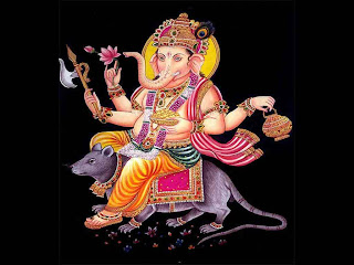 hindu god ganesh black background image