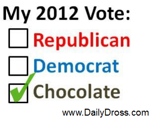 Daily Dross: I Vote Chocolate!