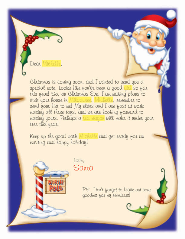 search results for customizable letters from santa With custom letter from santa
