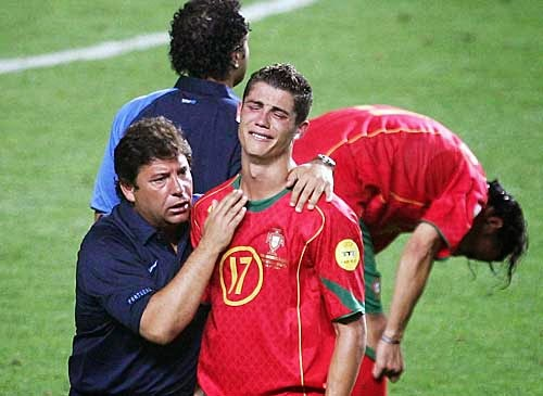 Ronaldo Crying for Portugal
