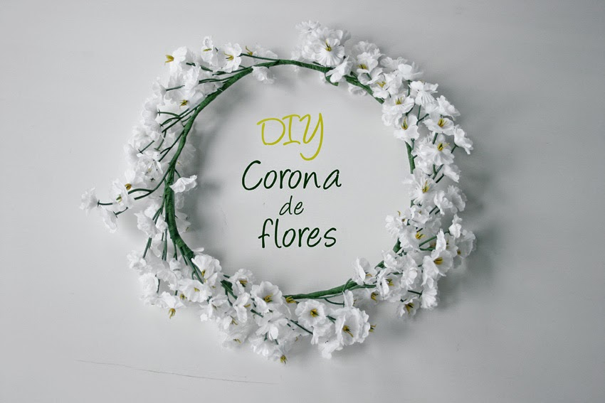 Diy corona de flores artificiales