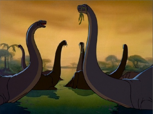Dinosaurs in Fantasia 1940 animatedfilmreviews.blogspot.com