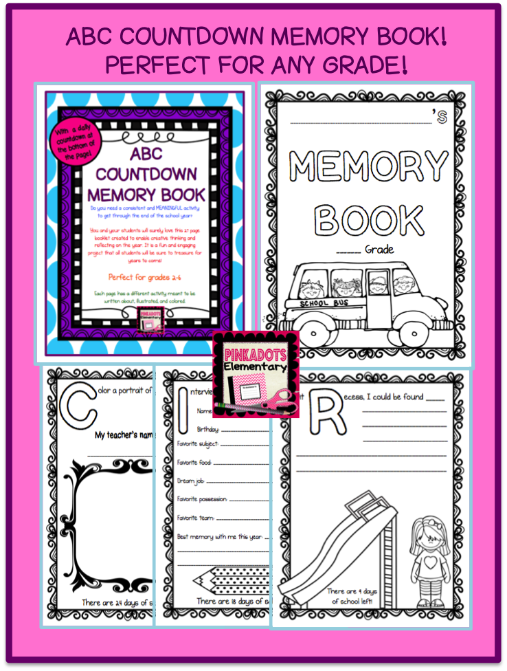 http://www.teacherspayteachers.com/Product/ABC-Countdown-Memory-Book-Perfect-for-End-of-the-Year-Any-Grade26-Days-1215037
