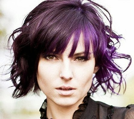 short hair style guide and photo 2014 purple hair color