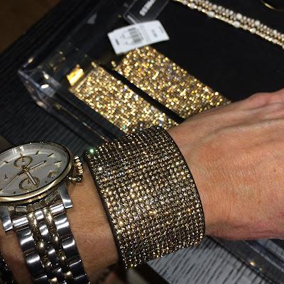 Express pave turnlock glitter bracelet
