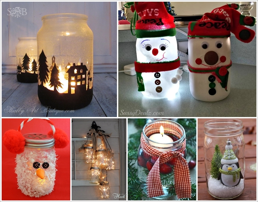 mason jars have come a long way from merely storing food or preserves theyve become a craftingdecorating staple hopefully youve been storing your - Christmas Decorations To Make Yourself