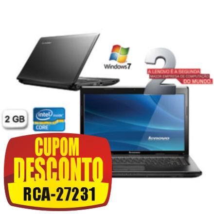 Cupom Efácil - Notebook Lenovo G475