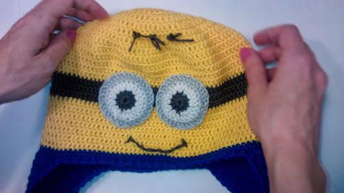 Весенняя шапка крючком Зверошапка для мальчика