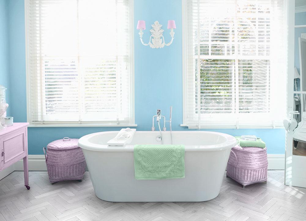 Baño Blanco Bizcocho: en colores azul rosa y verde baño en azul y blanco pastel en la