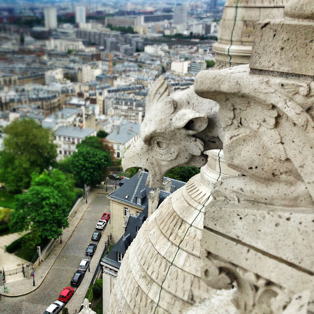 Gargoyle at the Sacre Coeur in Montmartre Paris