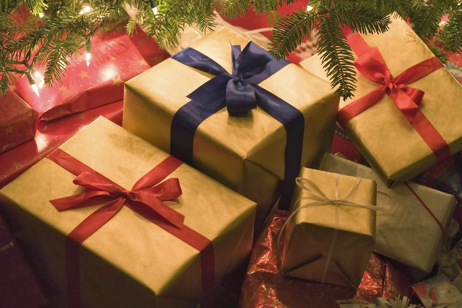 Christmas Presents In A Pile