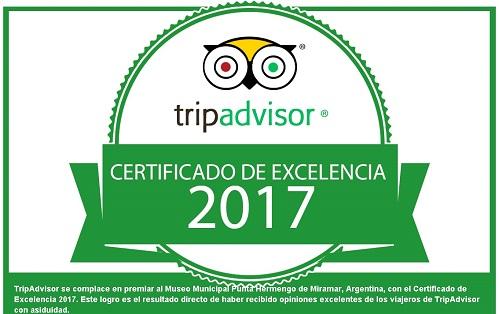 Certificado de Excelencia Tripadvisor.