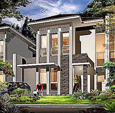 Rumah Minimalis 2 Lantai Lebar 10 Meter  fotosvestir