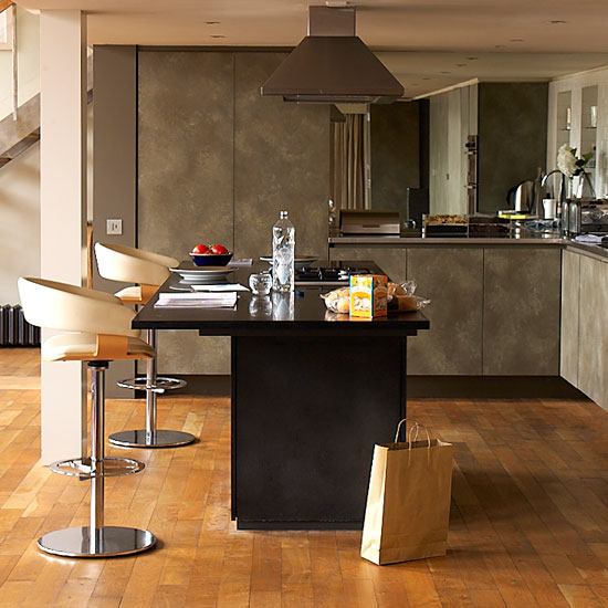 Eat At Kitchen Island: Made Of Metal: Kitchen Islands With Breakfast Bars