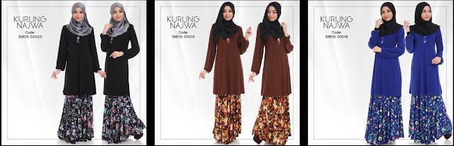 Baju Kurung Najwa Terbaru Dari SweetMuslimah