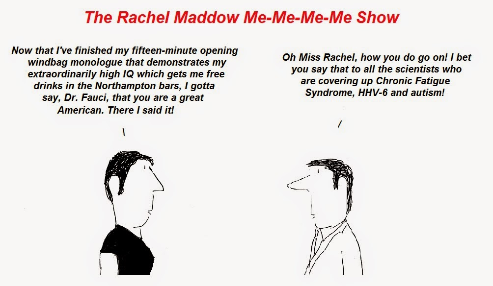 fauci, rachel maddow, cfs, hhv-6 autism, chronic fatigue syndrome, fraud, censorship