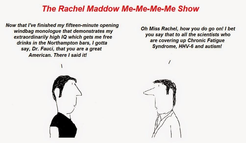 fauci, rachel maddow, cfs, hhv-6 autism, chronic fatigue syndrome, fraud, censorship
