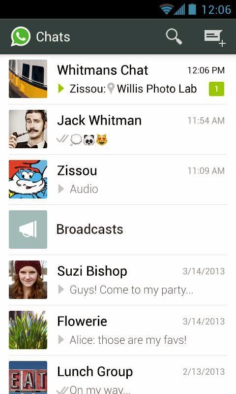 Aplikasi Android WhatsApp Messenger Terbaru Asik - 1