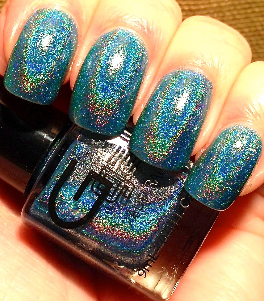 Little Miss Nailpolish: Glitter Gal Blue 3D/Holo - swatches and review