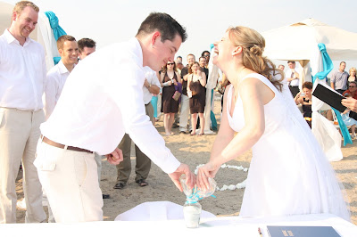 Sprucewood Shores Beach front wedding, sand Ceremony