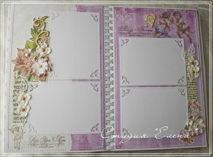 Свадебный фотоальбом в коробочке