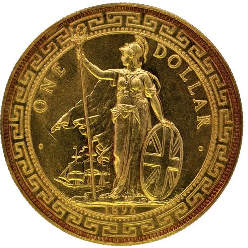 1896b Gold British Trade Dollar Sold For 163 222 000