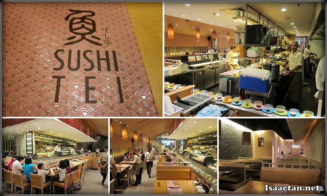 The interior of Sushi Tei Tropicana City Mall