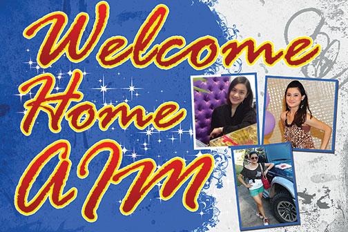 Welcome Home Tarpaulin Design