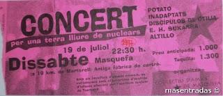 entrada de concierto de potato
