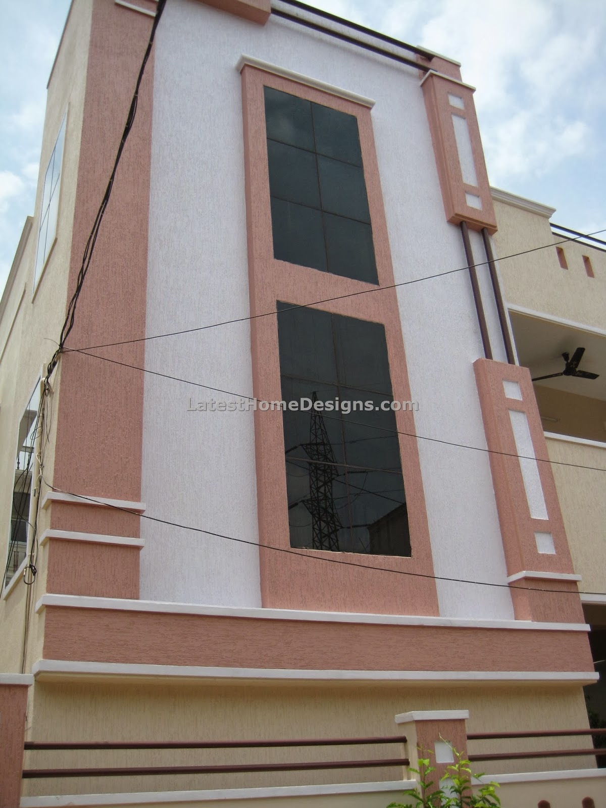 floor independent house outer elevation designs Andhra style