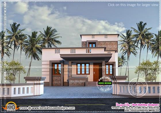 Flat roof single floor home
