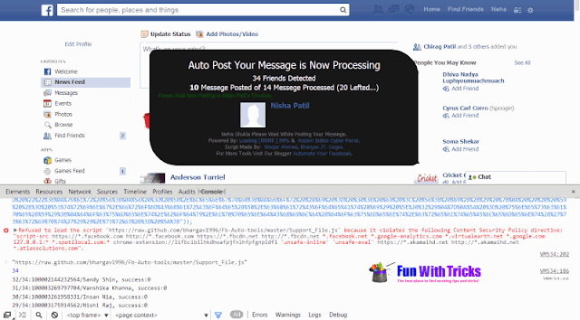How to send messages to all Facebook friends in one click?