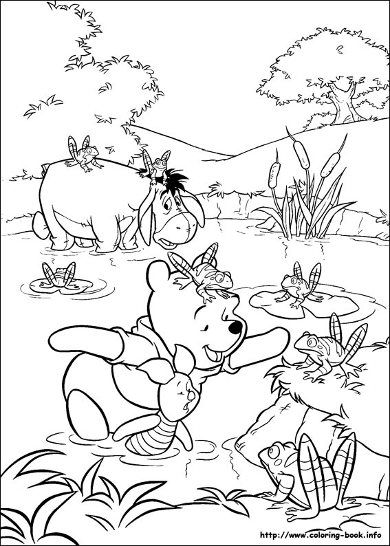 pooh printable coloring pages
