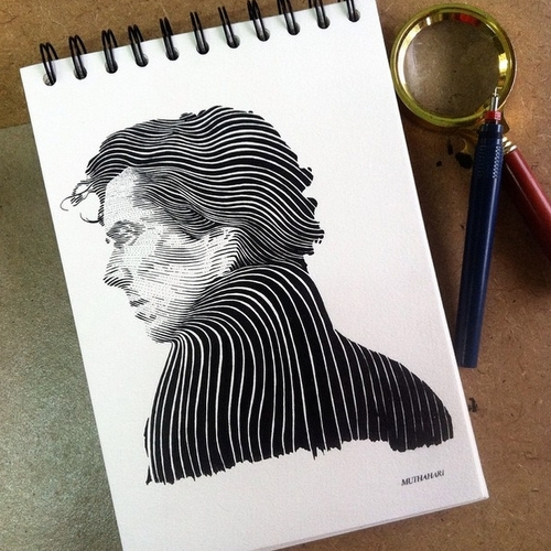 04-Sherlock-Holmes-Benedict-Cumberbatch-Muthahari-Insani-Beautifully-Detailed-Ink-Drawings-and-Doodles-www-designstack-co