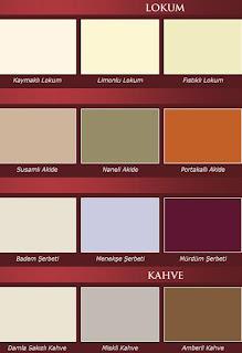 marshall osmanl%C4%B1 renkleri Marshall boya renk kataloğu