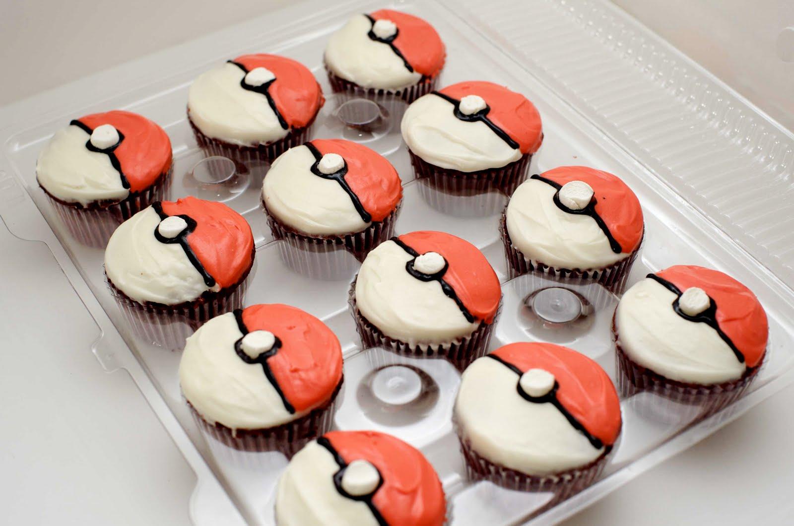 Pokemon Ball Cupcakes Birthday Cakes