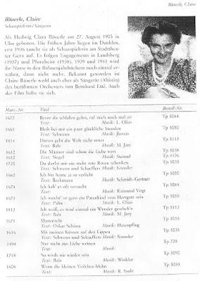 Tondokumente der Kleinkunst - page on Clara Bauerle