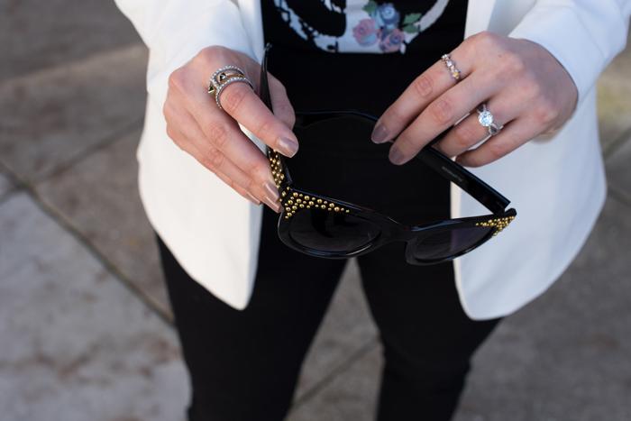 how to wear a white blazer