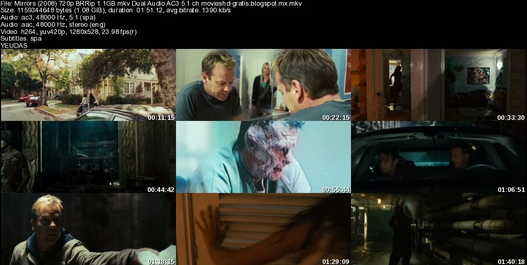 mirrors reflejos 2008 720p 1 1gb y 1080p 1 9gb brrip
